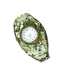 Green Diamante-look Watch