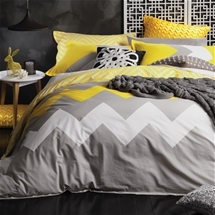Marley Yellow Quilt Cover Set
