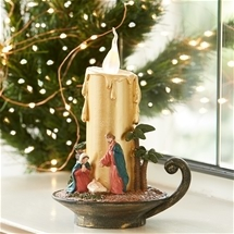 Nativity Scene LED Candle