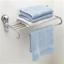 No Drill Single Towel Rail and Shelf