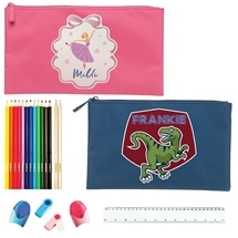 Personalised Pencil Case with Stationery