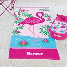 Personalised Kids Beach Towel