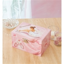 Personalised Ballerina Musical Jewellery Box