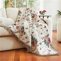Rose Jacquard Throw