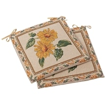 Sunflower Outdoor Chair Cushions