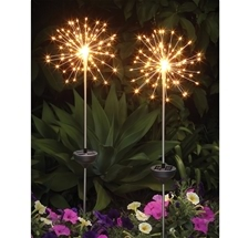 Solar Firework Stake Lights