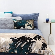 Shimmering Sequin Bed Runner & Cushion