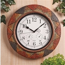 Slate Indoor & Outdoor Wall Clock