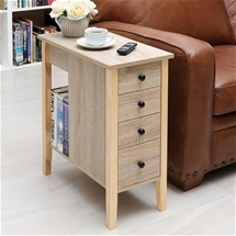 Slim 4 Drawer Sofa Table