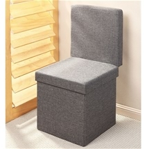 Storage Ottoman with Backrest
