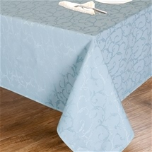 Blue Jacquard Swirl Tablecloth