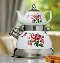 Whistling Kettle and Teapot Set