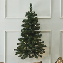 Wall Mounted Lighted Christmas Tree