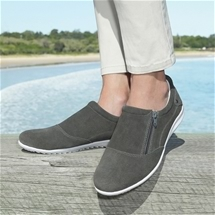 Leather Zip-up Comfort Shoe