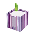 Purple Notepad Stack with Pen_0415992_0