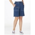 Elastic Waist Denim Shorts_12S11_3