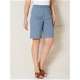 Elastic Waist Denim Shorts_12S11_4