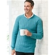 Mens Thermal Cable Knit Sweater_1604_0