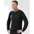 Mens Thermal Cable Knit Sweater_1604_2