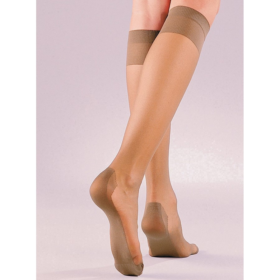 Sheer Knee High Stockings 4 Pack Amber M