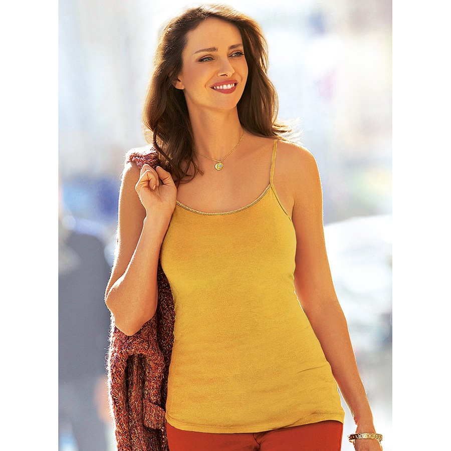 Gold Trim Cami Honey L