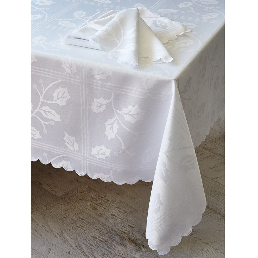 Christmas Jacquard Tableware White Napkins Set of 4