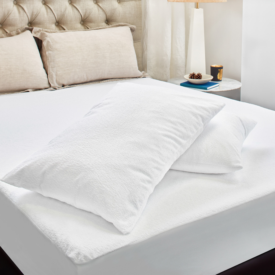 Terry Cotton Mattress Protection Value Pack  Double