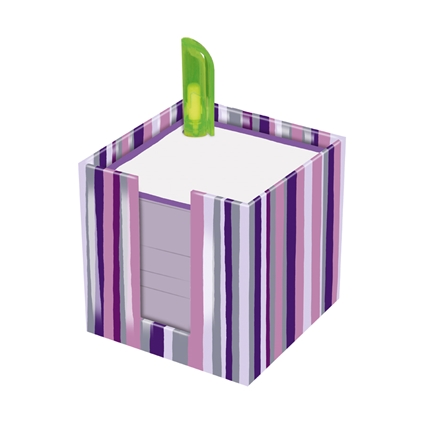 Purple Notepad Stack with Pen