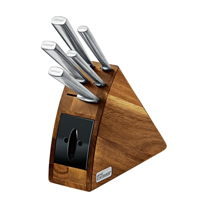6 Pcs Acacia Knife Block