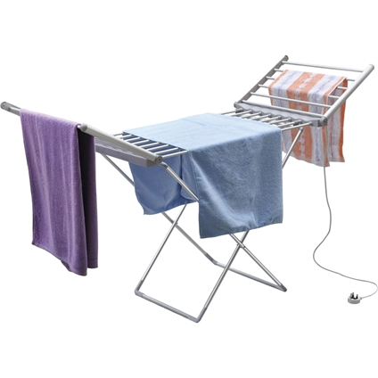 portable electric heated indoor clothes drying rack innovations. Black Bedroom Furniture Sets. Home Design Ideas