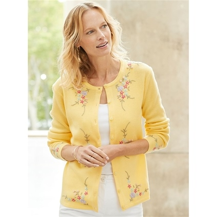 Roses Embroidered Cardigan