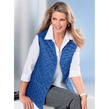 Silky Quilted Vest