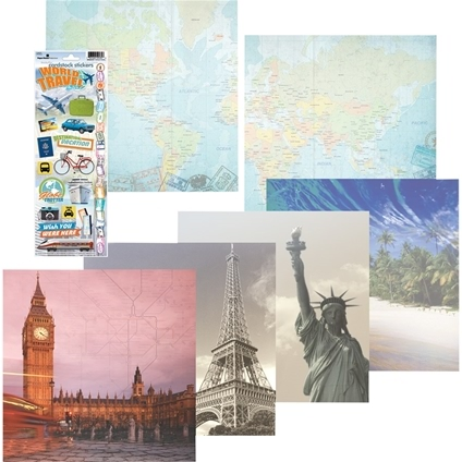 World Travel Scrapbooking Kit