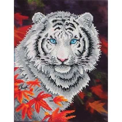 White Tiger in Autumn - Diamond Dotz