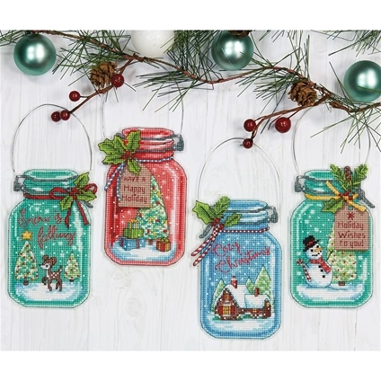 Christmas Jar Ornaments