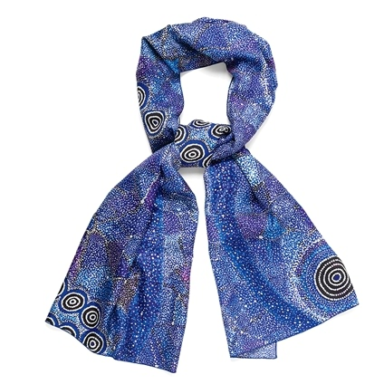 Aboriginal Design Silk Scarves