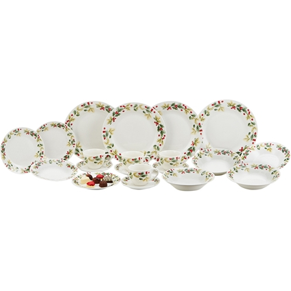 20 piece Christmas Dinner Set