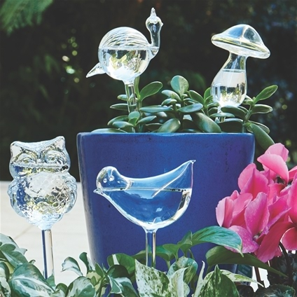Decorative Watering Globes - Set of 4