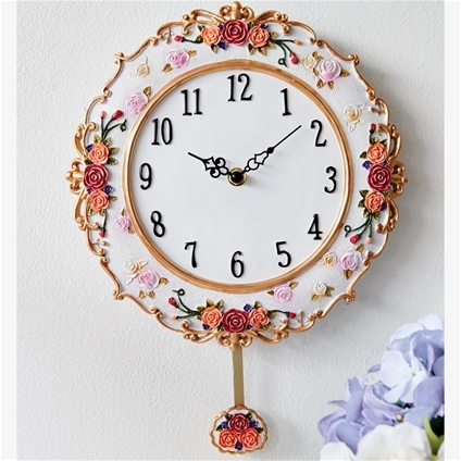 Frameless Rose Clock