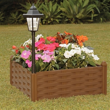Garden Panel Bed with Solar Light