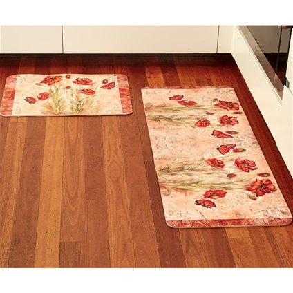 Kitchen Poppy Cushioned Mats