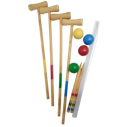Wooden Croquet Set
