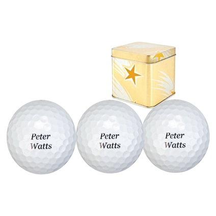 Personalised Golf Balls (Set of 3)
