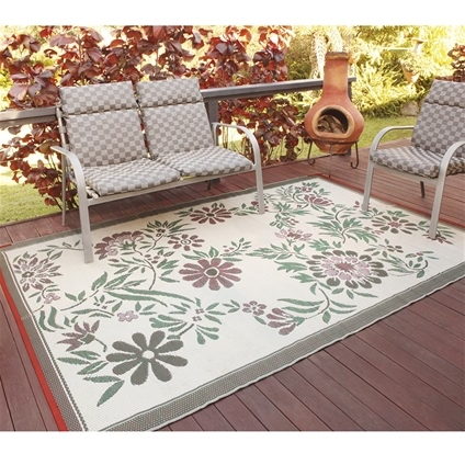 Floral Outdoor Patio Mat_PTMR_0 ...