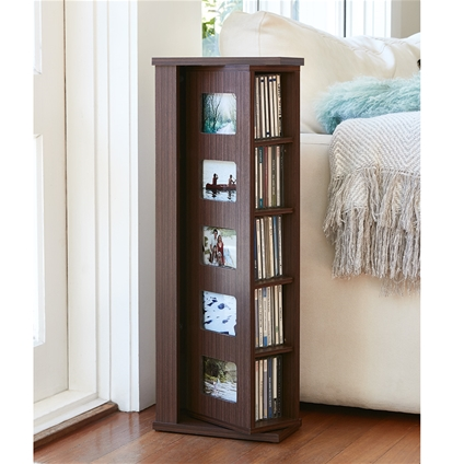 Revolving CD Cabinet with Photo Frames