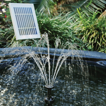 Solar Fountain Pump with LED Lights