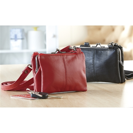 Handy Red & Black Purse Bag