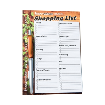 Free Shopping List with Pen